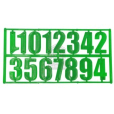Комплект из 15 цифр зеленый