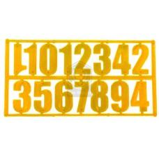 Комплект из 15 цифр желтый