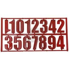 Комплект из 15 цифр красный