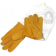 Перчатки кожаные с рукавами  (размер L)