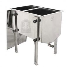 Стол для распечатки усиленный 750 мм (нерж)