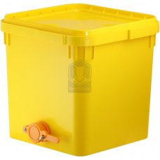 Куботейнер (23 литра) с краном желтый